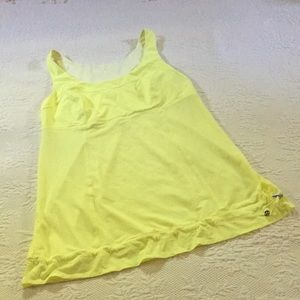 Lululemon neon yellow tank top size 8